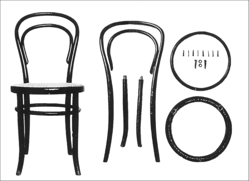 No 14 Chair – The Thonet was is over 160 old and marks the starting point of a production revolution.